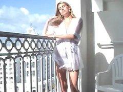 Jen Hilton - Semi Sheer, Morning on the Balcony