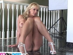 Sexy blonde wife is really horny