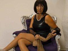 Layer Nylon Pantyhose MILF Mature FemDom German JOI