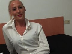 Horny secretary loves to being fucked in the ass