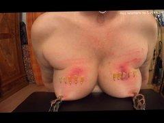 SKLAVIN-Z and her tortured tits