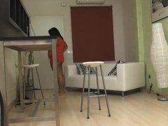 18 years old ebony girl sucks and fucks the IT guy