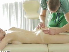 Giving hot massage pleases babe