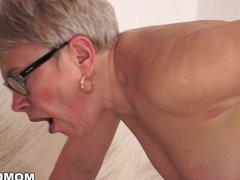 Granny Ursula Grande fucks a much younger cock