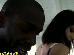Babe anally fucked by black cock