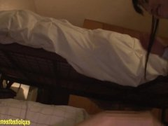 Jav Idol Abe Mikako Fucked Under Bed Whilst Guys Wife Is Sleeping On Top