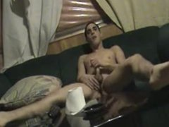 Hardcore Male Masturbation Humps Pillow and Cums