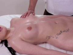 RELAXXXED - Hot erotic fuck on the massage table with sensual brunette gal