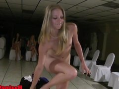 Real les amateur toyed in pussy at hazing