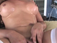 pegging bisexual cuckold and shemale comp
