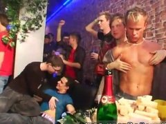Naked boys swim party and young boys group
