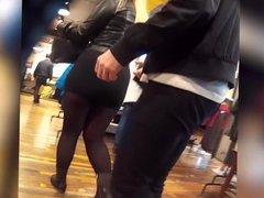 fat big ass miniskirt shopping
