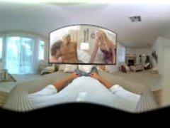 VR Stereoscopic 360 - Blonde Milfs Brianna Banks & Elizabeth Jolie 3some