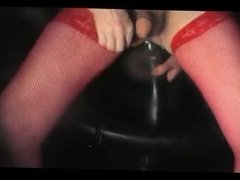 anal fisting dildo toy crossdresser trans lingerie pantyhose