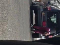 Phat latina ass wahing car