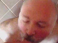 Mature men piss and masturbating