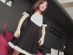 Subtitles uncensored Japanese maid POV blowjob HD