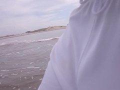 See Through Shorts at the Beach