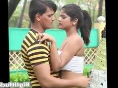 Couple doing romance in public park