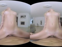 Amateur pretty blonde performs anal well