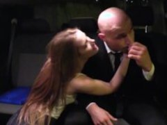 FUCKED IN TRAFFIC - Czech schoolgirl Alexis Crystal takes backseat fuck