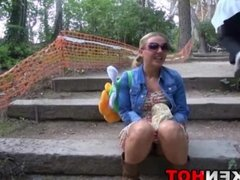 Provocative Milf Voyeur Public Nudity Outdoor