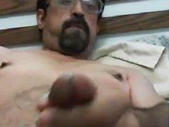 Daddy wanking hard