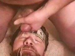 cumming on dady bears face