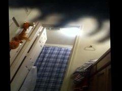 spy cam - blonde in bathroom