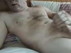 wanking and texting wife at same time