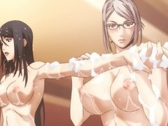 Prison School bathing scene (uncensored)