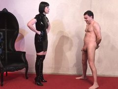 Miss Snow Mercy destroys the balls of Andrea Dipre