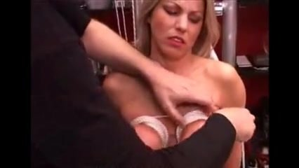 Slave training tits