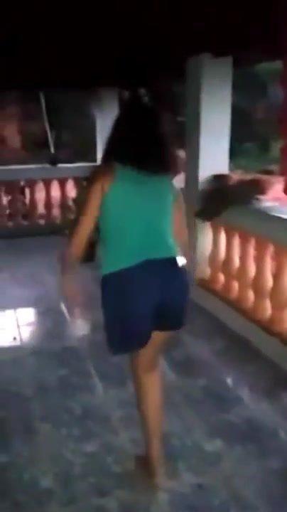 Amputee LAK Girl Crutching & Jumping