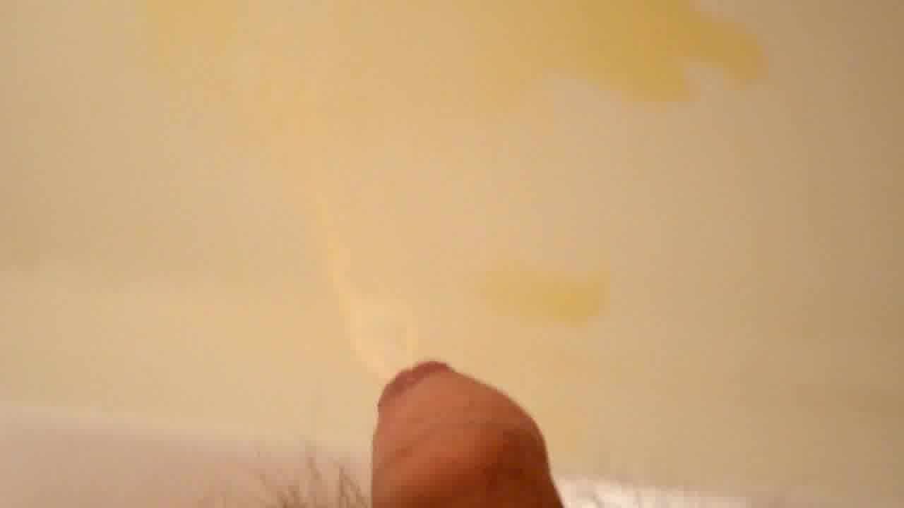Pissing Out My Uncut Cock In Shower