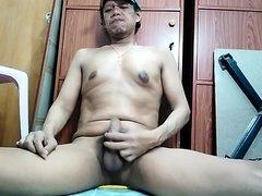 Jerking my hard cock and cum
