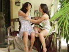 Sloppy Lesbian Kisses - Scene 1