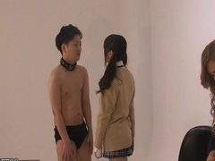 Japanese Femdom Face Trample and Humiliation