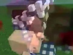 Girl in Minecraft have sex