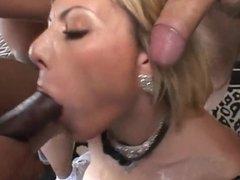 VelV Sloppy Interracial Deepthroat Blowbang