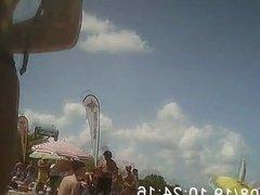 Culo perfecto de teen argentina en la playa