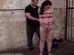 Bondage slave Caroline Pierce dungeon whipping of american
