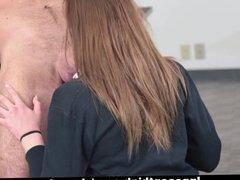 InnocentHigh - Schoolgirl Sucks Cock For Smoking Weed