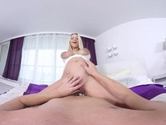 pregnant Virtual Reality fuck with Nathaly Cherie