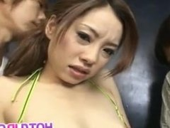 Reina Yoshii arouses men and is fucked by them in holes same