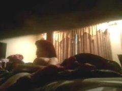 hidden camera catches hot milf masturbating in bed