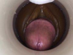 Sperm receptacle by cum cam man