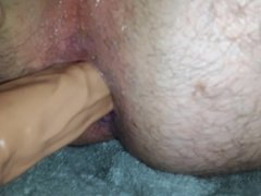 Huge Dildo Pounding and Stetching My Little Hole