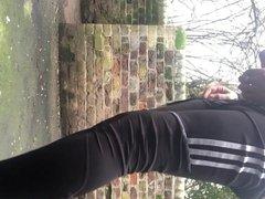 London park - outdoor ass play