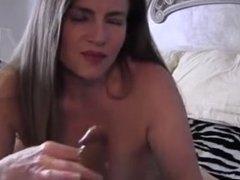 Mommy teasing her boy in LIngerie